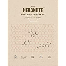 HEXANOTE - Hexagonal Graph Notebook - Organic Chemistry: 150 pages hexagonal graph paper notebook for drawing organic chemistry structures
