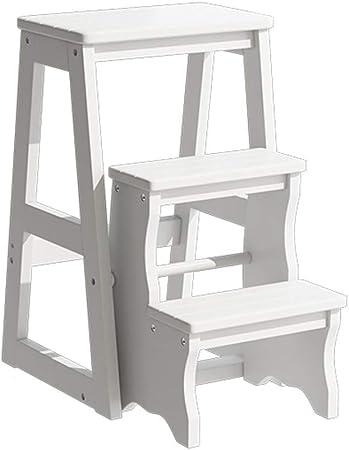 GY Escalera Taburete Multifunción Doméstica Escalera de Interior Escalera con peldaño Plegable Escalera de Dos escalones de Doble Uso 36X56X64CM, 36X58X77CM (Color : C, Size : 36X56X64CM): Amazon.es: Hogar