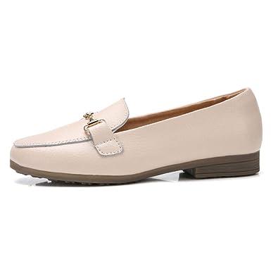 Zapatos Planos De Cuero Para Mujer Mocasines Zapatillas De Ballet Para Mujer Zapatos De Trabajo: Amazon.es: Ropa y accesorios