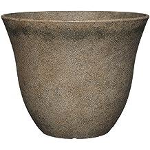"GARDENGOODZ Honeysuckle Patio Pot Honeysuckle Planter, Patio Pot, 15"" Fossil Stone"