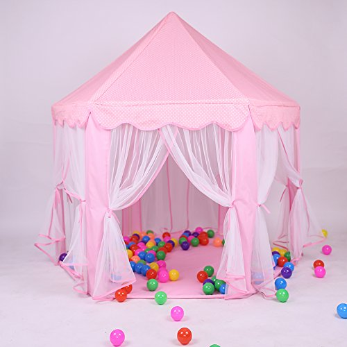 Pink Princess Castle Kids Play Tent Children ...  sc 1 st  YourDreamToys.com & Pink Princess Castle Kids Play Tent Children Playhouse Great ...