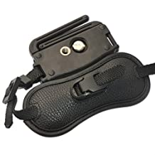 First2savvv OSH0402 Professional Wrist Grip black genuine leather hand Strap for Nikon COOLPIX P530 FUJIFILM X-T1 sony A3000 sony SLT-A58 sony SLT-A65 sony SLT-A77 with UV lens filter protection bag case