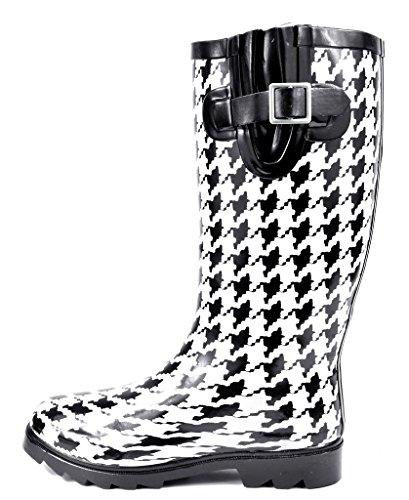 High Women's Knee Rainboots Snow Winter Rubber arctiv8 White Black vqBxtCwq