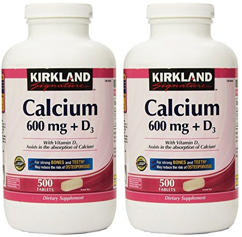 Kirkland Signature, Calcium 600 mg + D3 500 Count KZIxv (Pack of 2) Review