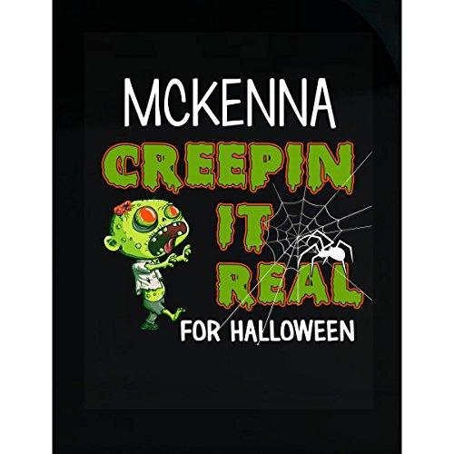 Mckenna Creepin It Real Funny Halloween Costume Gift - Sticker -