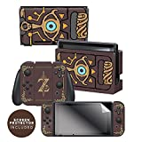 """: Controller Gear Nintendo Switch Skin & Screen Protector Set Officially Licensed By Nintendo - The Legend of Zelda: Breath of the Wild: """"Sheikah Slate"""" - Nintendo Switch"""