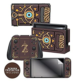 "Controller Gear Nintendo Switch Skin & Screen Protector Set Officially Licensed By Nintendo - The Legend of Zelda: Breath of the Wild: ""Sheikah Slate"" - Nintendo Switch"