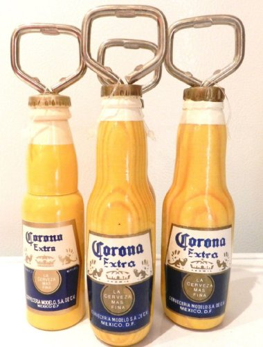 Corona Extra Image Wood Metal Bottle Opener From Mexico New ()