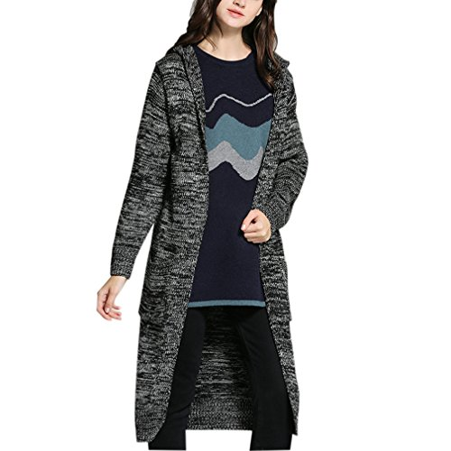 Price comparison product image Gordon Q Women's Casual Knitted Sweater Cozy Fit hoodie Cardigan Tops S