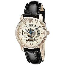 Stuhrling Original Women's 107EL.114531 Classique Delphi Omega Automatic Skeleton Black Strap Set Watch