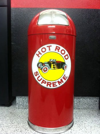 Retro Style Bullet Trash Can- Hot Rod Supreme
