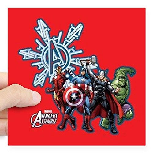 CafePress Avengers Holiday Avengers Full Bleed Sticker Square Bumper Sticker Car Decal, 3