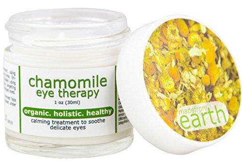 Organic Chamomile Eye Cream - with Vitamin B5, C, E, Organic Avocado & Evening Primerose