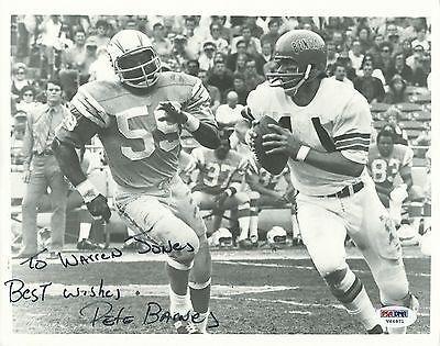 Autographed Pete Barnes Photo - AFL 8x10 COA to Warren Jones - PSA/DNA Certified - Autographed NFL Photos