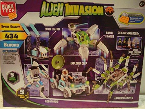Alien Invasion Set (Block Tech Alien Invasion 434 Piece Interlocking Set)