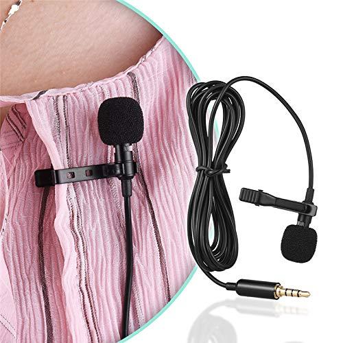 tianranrt 3,5 mm Jack Mini corbata Clip Micrófono Lavalier Cuello ...