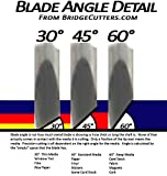 Combo 6-Pack Replacement Carbide Blades 3 Each 45 & 60 Degree Works with Most Cutters