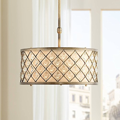 "Jeweled Golden Bronze 18 1/2"" Wide Pendant Light - Regency Hill"