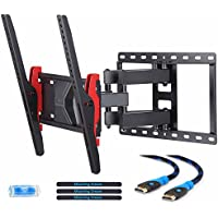Mounting Dream MD2731 TV Wall Mount Bracket for most of 26-55 Inch LED, LCD, OLED and Plasma Flat Screen TV with Full Motion Swivel Articulating Dual Arm up to VESA 400x400mm and 99 lbs with Tilting