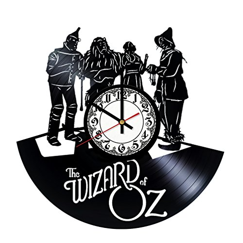 (The Wizard of Oz Characters Handmade Vinyl Record Wall Clock - Get unique room wall decor - Gift ideas for his and her - Modern Unique Home Art Design)