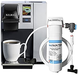 Coffee maker with water line hookup