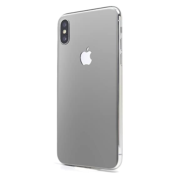 pretty nice 62caf 9ba0e Silver Matte SKINTZ Glass Protection Skin Wrap Compatible with iPhone Xs  Max (6.5