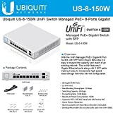 Ubiquiti US-8-150W 8-Port UniFi Switch Managed PoE Gigabit Switch w/ SFP 150W