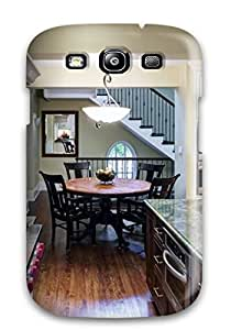 New Tpu Hard Case Premium Galaxy S3 Skin Case Cover(traditional Kitchen With Green Countertops)