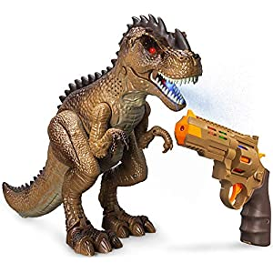 Best Epic Trends 51mNoesOIjL._SS300_ Greenbo Dinosaur Toys Jurassic T Rex Battle Attack Shooting Action Figure Multifunction Realistic Cool Walking RC…