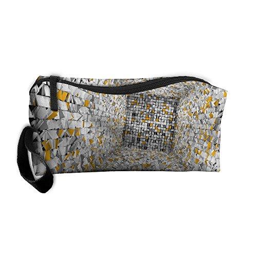 Jessent Coin Pouch 3D Amazing Backgrounds Pen Holder Clutch Wristlet Wallets Purse Portable Storage Case Cosmetic Bags Zipper
