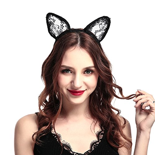 Lace Cat Ears Girls Headbands Adult Party Cosplay Favor Hair Hoop Daily Headwear