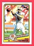 Vinny Testaverde 1988 Topps Football Rookie Card #2 (Buccaneers) (Jets) (Browns)