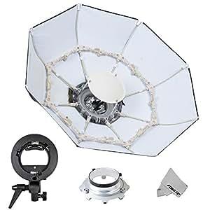 Fomito Foldable Beauty Dish Soft Box con Bowens Mount Interior Blanco Di/ámetro: 70cm//28