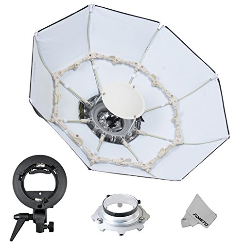 Fomito Foldable Beauty Dish Softbox with Bowens Mount Inner White (Diameter: 70cm/ 28