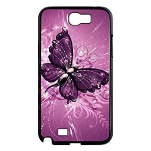 DIYCASESTORE Gorgeous Samsung Galaxy Note 2 N7100 case Beautiful Butterfly Art Customized Bumper Plastic Hard Case WE472094