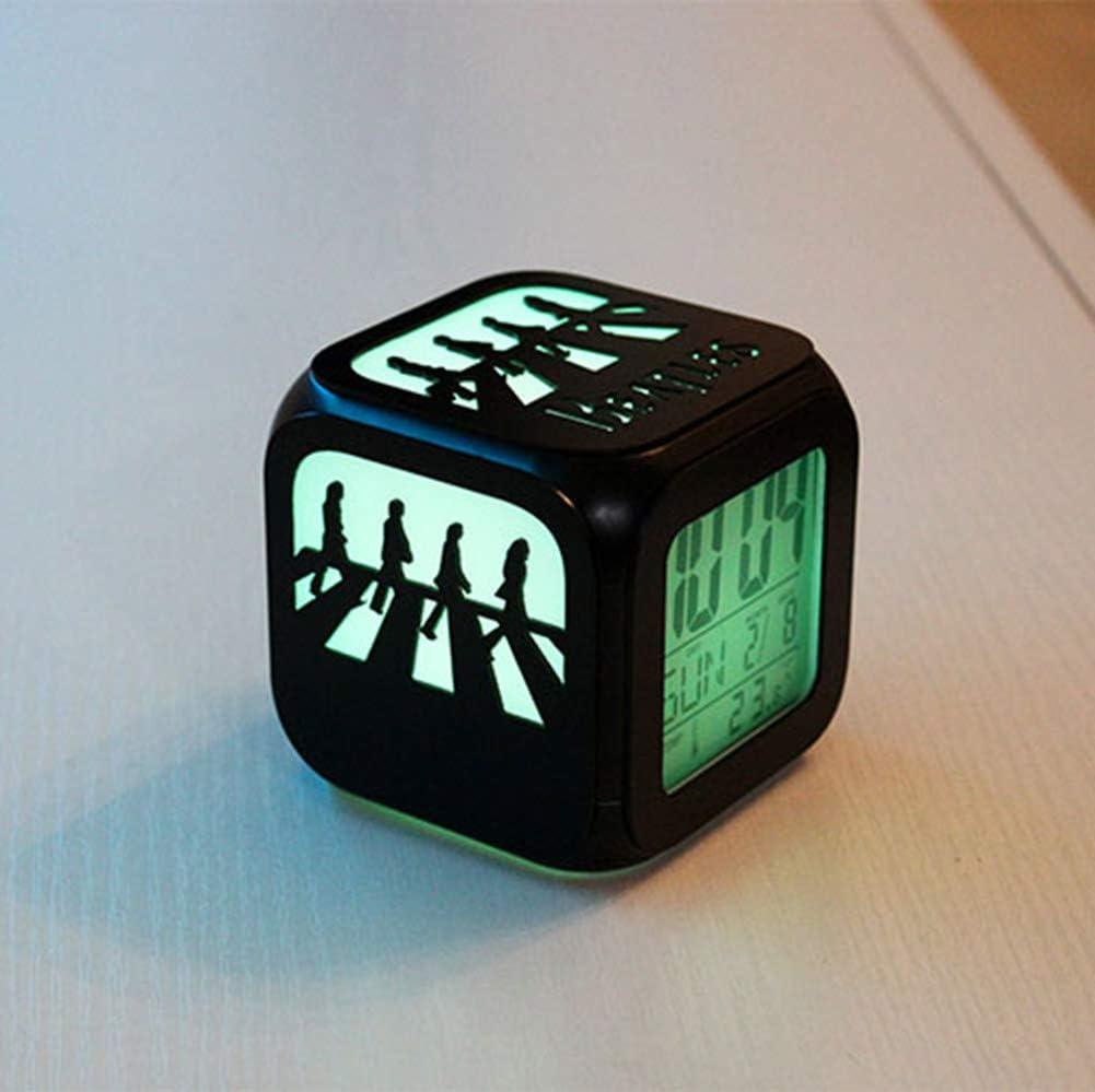Super Creative Beatles Abbey Road R/éveil Sept Couleurs ,A:Batteryboxversion Charge USB R/éveil Cadeau Anniversaire 3D St/ér/éo LED Night Light R/éveil /Électronique