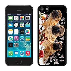 Individualization Iphone 5C TPU Case Christmas Dog Black iPhone 5C Case 5
