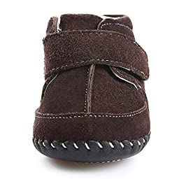 Orgrimmar Baby Girls Boys Velcro Cotton Soft Sole First Walkers Snow Boots (M=Insole len 4.92\