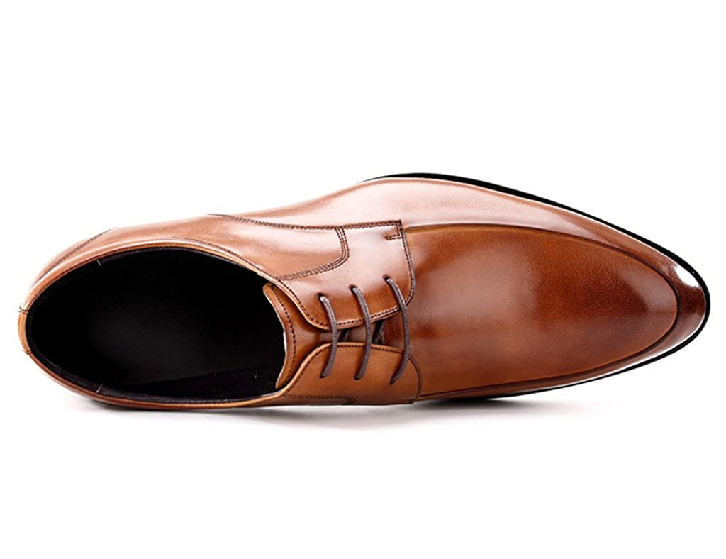 Men's leather Formal shoes Business Formal leather Wear Leisure Retro Pointed British Tide Shoes EU37/UK4-4.5|Brown B07G6P8684 ef6bb1