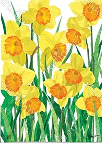 BreezeArt Daffodils in Bloom Garden Flag (Daffodil Garden)