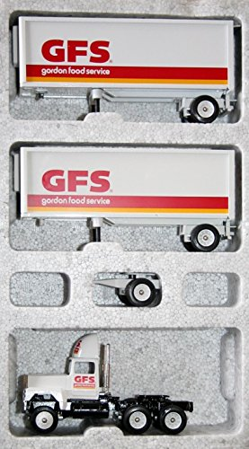 Winross 1993 GFS Gordon Food Service Diecast Ford 9000 with Double 28 ft Trailers