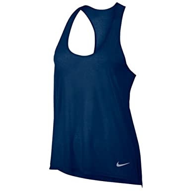 Nike Women's Breathe Athletic Running Tank Top (XS, 429 Binary Blue)