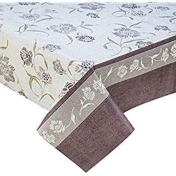 GREY PVC WIPE CLEAN  OILCLOTH VINYL TABLECLOTH WIPEABLE TABLE COVER