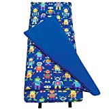 #8: Original Nap Mat, Olive Kids by Wildkin Children's Original Nap Mat with Built in Blanket and Pillowcase, Pillow Insert Included, Premium Cotton and Microfiber Blend, Children Ages 3-7 years – Robots