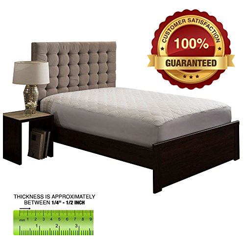 The Grand Fitted Quilted Mattress Pad Cover Hypoallergenic