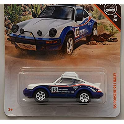 Matchbox Off Road Series '85 Porsche 911 Rally 19/20, White/Blue: Toys & Games