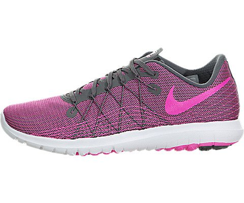 NIKE Women's Flex Fury 2 Dark Grey/Pink Blast/White Running Shoe...
