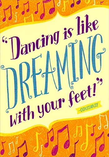 (Designer Greetings Dreamin with Your Feet Dance Recital Congratulations Card)