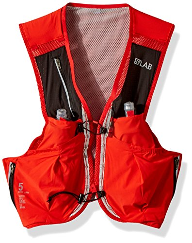 Salomon Unisex S/Lab Sense Ultra 5 Set Hydration Vest, Racing Red, X-Small by Salomon (Image #1)