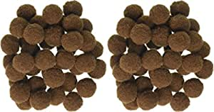 "Pom Poms .5"" 100/Pkg-Brown (2 Pack)"
